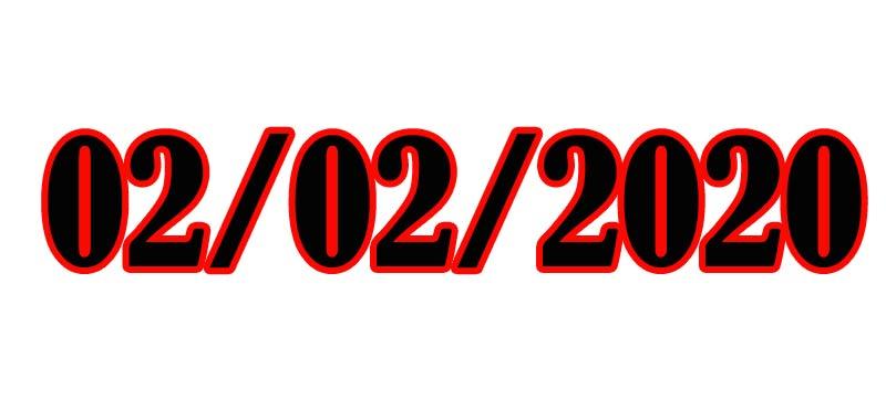 02-02-2020 il giorno palindromo arrivato